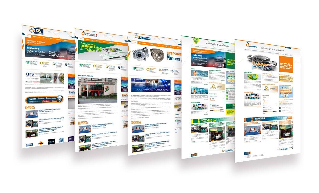 Diseño web Dipart