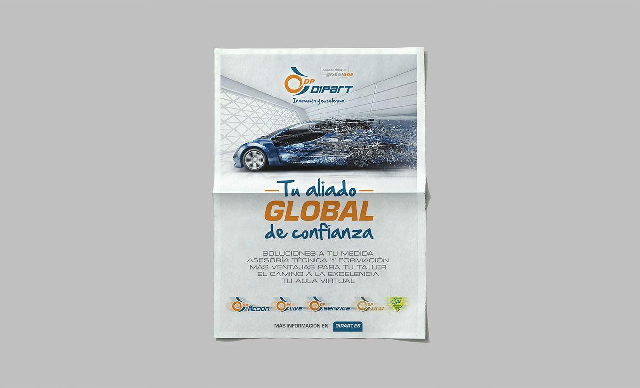 Diseño de anuncio para prensa de Dipart