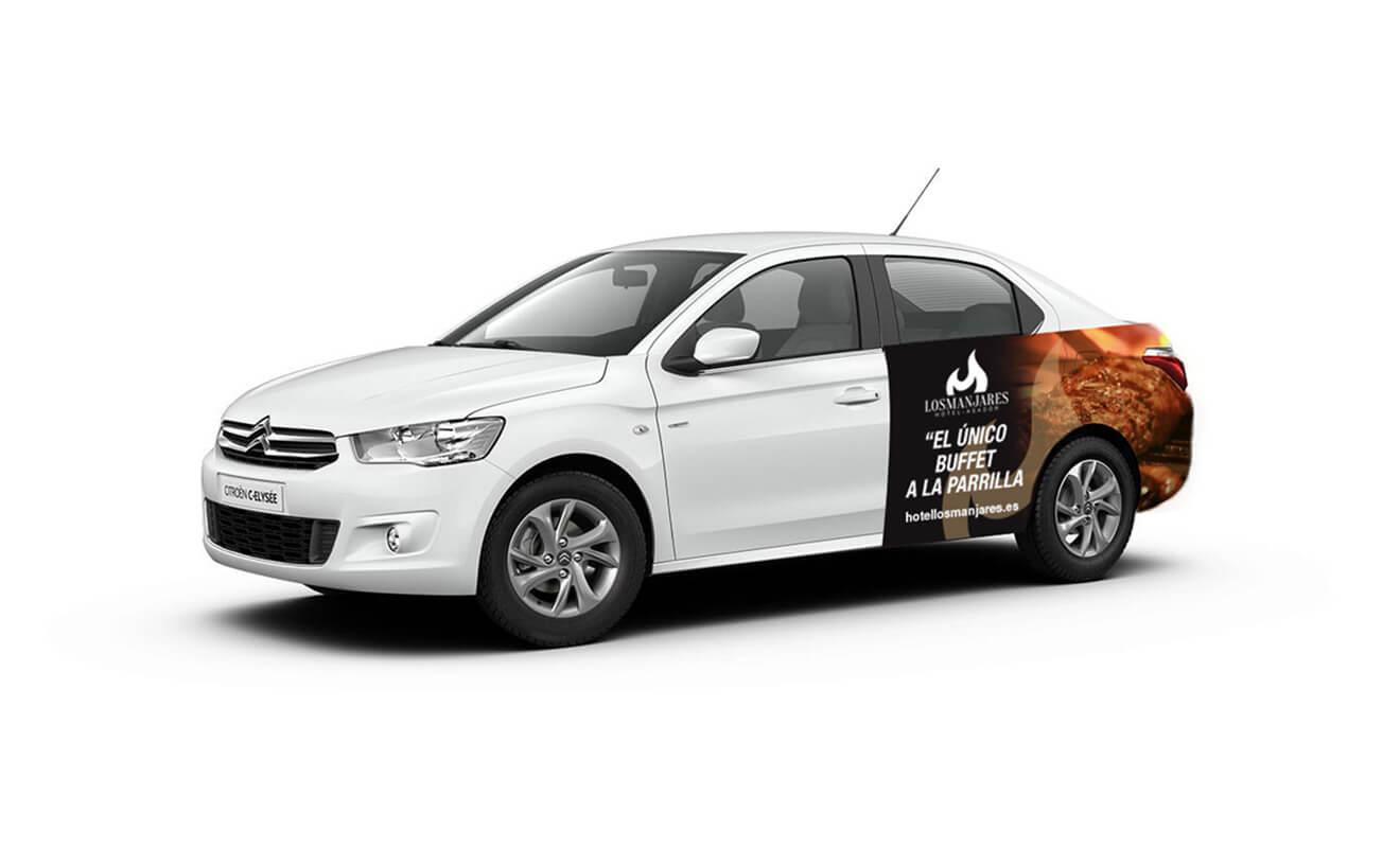 Publicidad Taxi Los Manjares