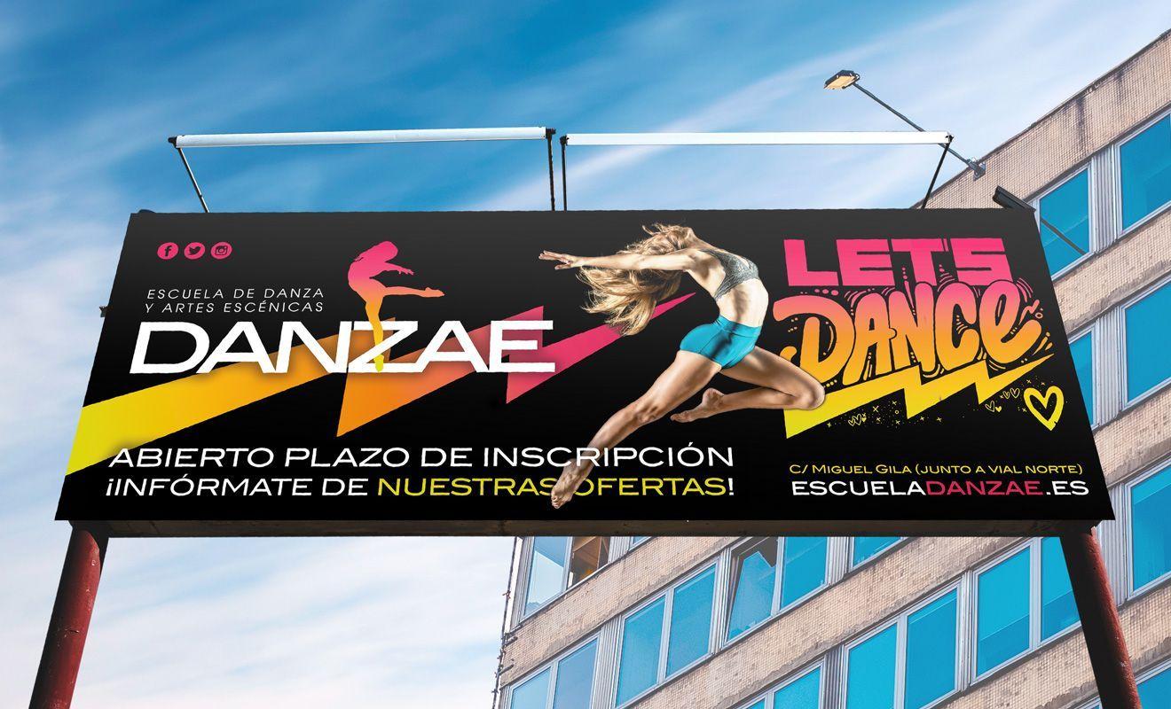 Diseño de valla publicitaria para Danzae